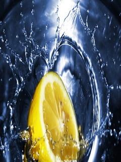 Slice Lemon Mobile Wallpaper