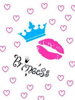 Princess Kiss Mobile Wallpaper