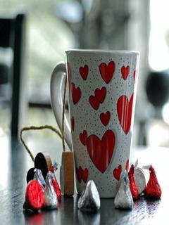 Hearts Mobile Wallpaper