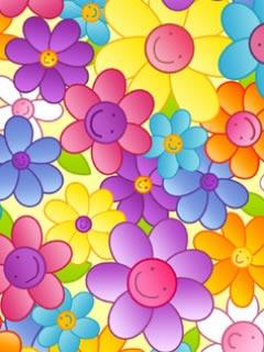 Smiling Flowers Mobile Wallpaper