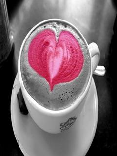 Heart Coffee Mobile Wallpaper