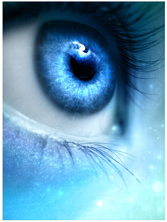 Eye In Blue Mobile Wallpaper