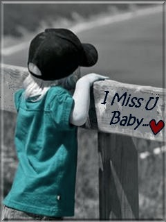 Miss You Baby Mobile Wallpaper