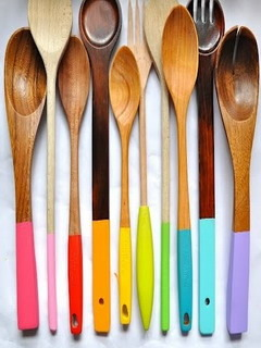 Painted Spoons Mobile Wallpaper