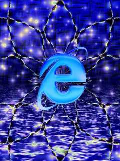 Blue Web Mobile Wallpaper