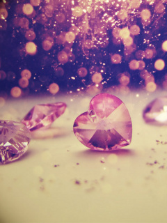 Crystal Heart Mobile Wallpaper
