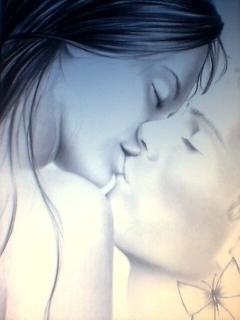 Kissing  Mobile Wallpaper