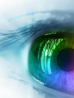 Neon Eye Mobile Wallpaper