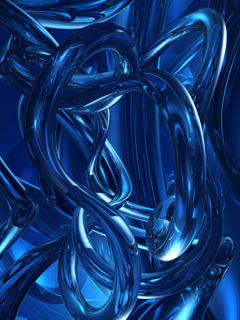 Digital Blue Pipes Mobile Wallpaper