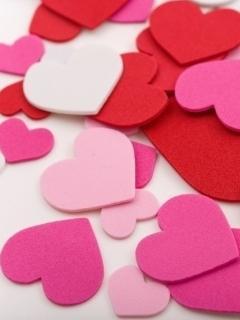 Beauty Hearts Mobile Wallpaper