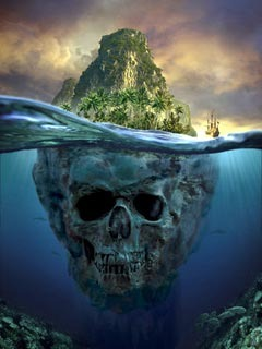 Island Skull Mobile Wallpaper