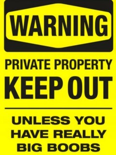 Warning Keep Out Mobile Wallpaper