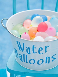 Cute Water Balloons Mobile Wallpaper