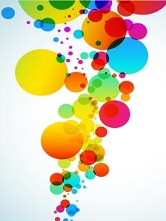 Colorfull Bubbles Mobile Wallpaper