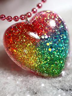 Download Cute Colors Heart Mobile Wallpaper | Mobile Toones