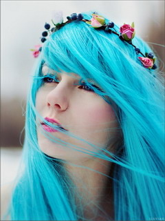 Blue Hairs Mobile Wallpaper