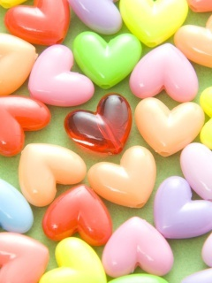 Beauty Color Hearts Mobile Wallpaper