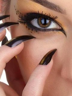 Nails Eye Mobile Wallpaper