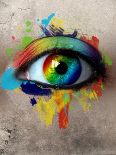 Rainbow Eye Mobile Wallpaper