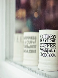 Happiness Is Cup Mobile Wallpaper
