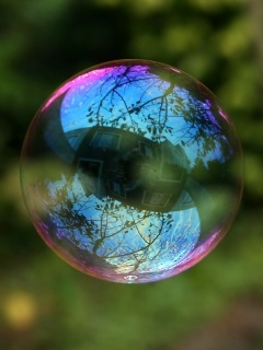 3D Nature Bubble Mobile Wallpaper