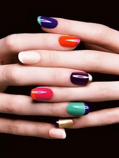 Multi Color Nails Mobile Wallpaper