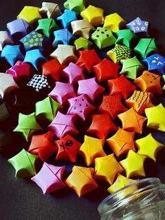 Colorful Stars Mobile Wallpaper