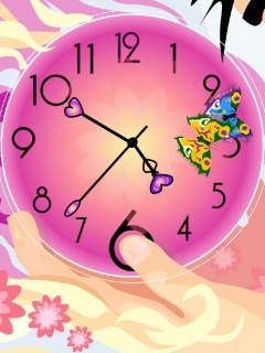 Pink Watch Mobile Wallpaper