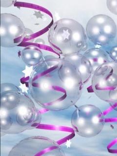 Purple Bubbles Mobile Wallpaper