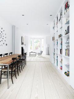 White Wood Floors Mobile Wallpaper