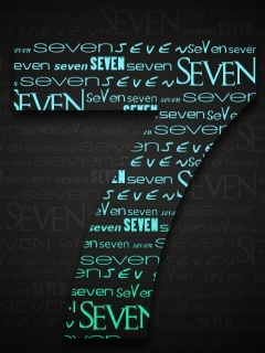 Text Seven Mobile Wallpaper