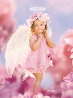 Pink Angel Mobile Wallpaper