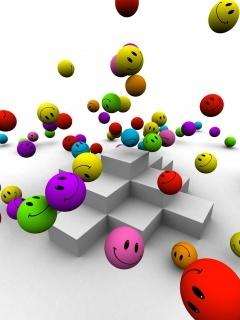 Colors Happy Smilies Mobile Wallpaper