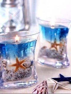Sea Candles Mobile Wallpaper