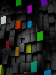 Color Cubes Mobile Wallpaper