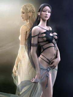 3D Girl Mobile Wallpaper