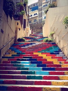 Colorful Steps Mobile Wallpaper