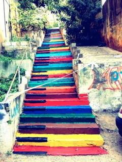 Piano Steps Mobile Wallpaper