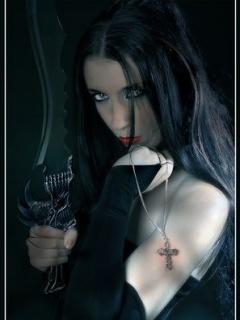 Vampire Girl Mobile Wallpaper