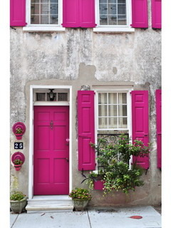 Charleston Fuschia Mobile Wallpaper