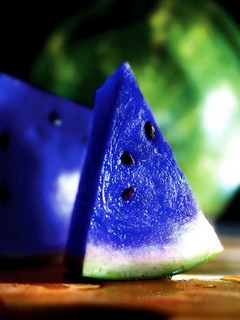 Blue Watermelon Mobile Wallpaper