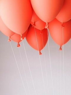 Orange Balloons Mobile Wallpaper