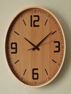 Wood Wall Clock Mobile Wallpaper
