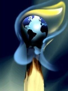 Flame Earth Mobile Wallpaper