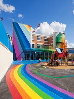 Colorful School Mobile Wallpaper