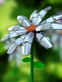 Metal Flower Mobile Wallpaper