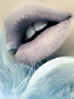 Lips Of Angel Mobile Wallpaper