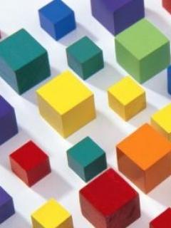 Colors Blocks Mobile Wallpaper