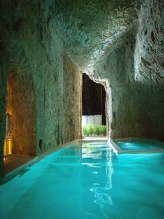 Pool Cave Mobile Wallpaper