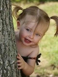 Cute Child Mobile Wallpaper